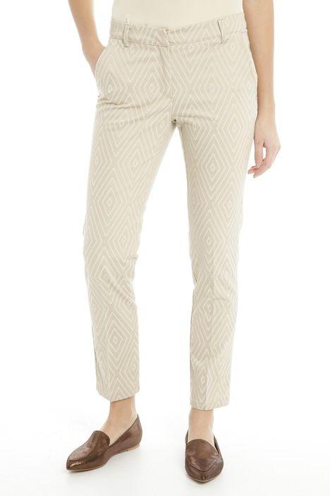 Pantaloni disegnati in cotone
