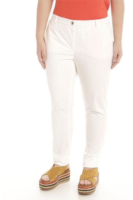 Pantalone in raso di cotone