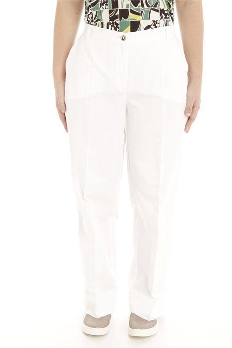 Pantalone dritto in raso