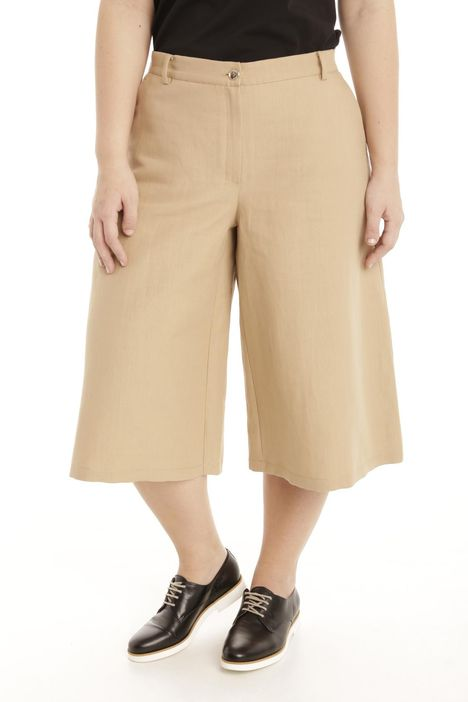 Pantaloni in ramiè e cotone