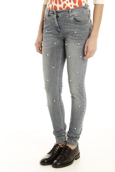 Jeans con perle