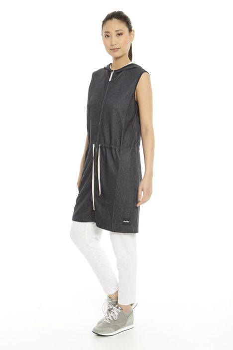Gilet lungo in jersey