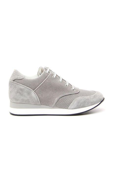 Sneakers traforata in pelle
