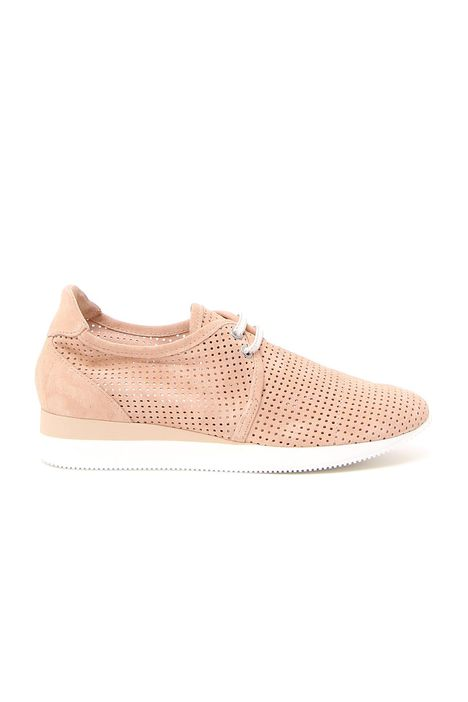 Sneakers traforata in suede
