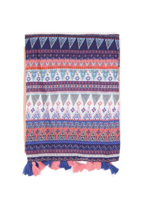 Sciarpa con nappe bicolor