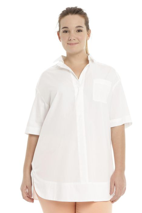 Camicia lunga in popeline