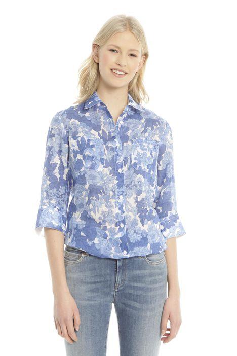 Camicia in ramiè stampato