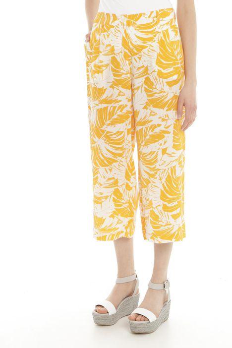 Pantaloni cropped in seta Diffusione Tessile