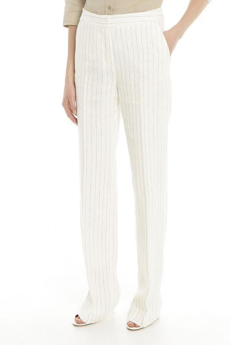 Pantaloni in tela di lino