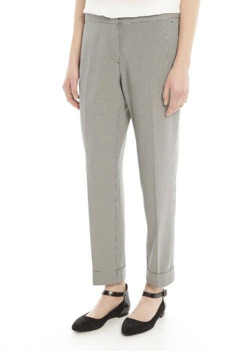 Pantaloni in cotone a motivo