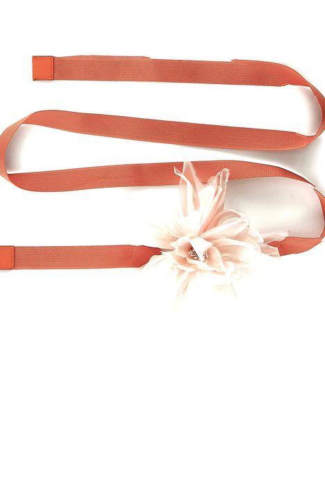 Cintura in nastro con fiore