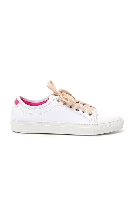 Sneakers in pelle e vernice