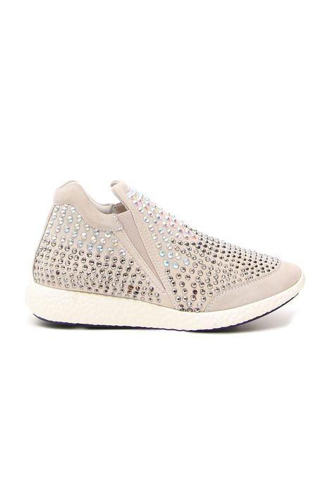 Sneakers con bijoux applicati