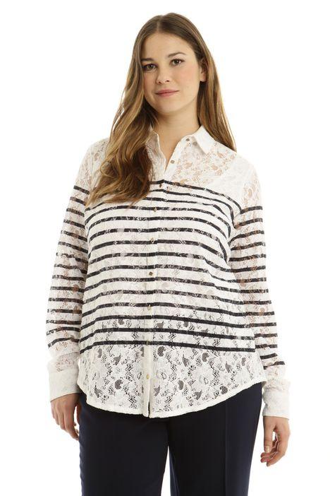 Camicia in pizzo di cotone