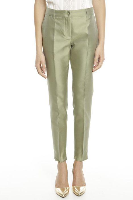 Pantalone lungo in shantung