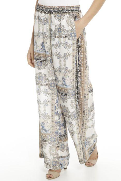 Pantalone palazzo in pura seta