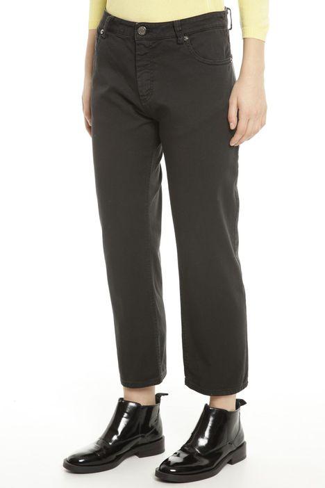 Pantaloni regular in gabardina