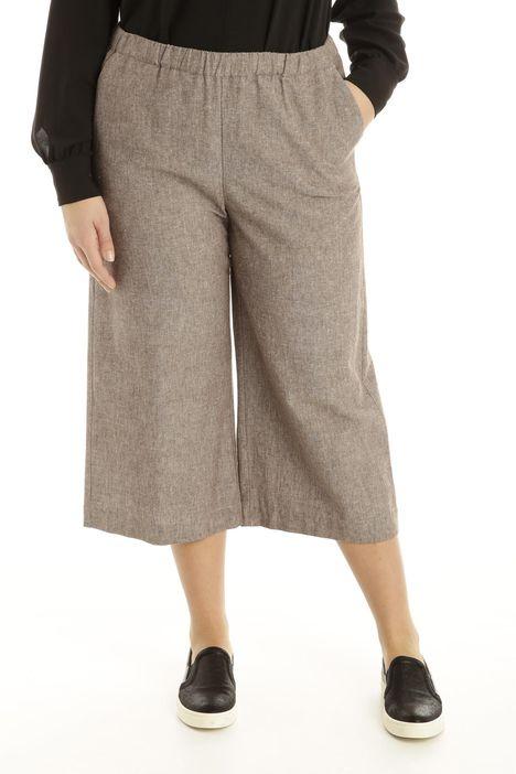 Pantalone in lino tinto filo