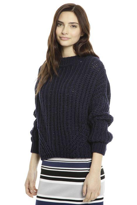 Pullover in garza di lana