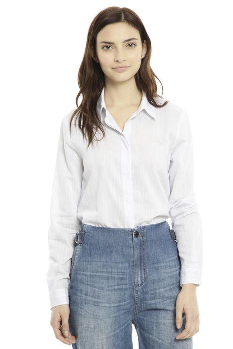 Camicia in tessuto tinto filo