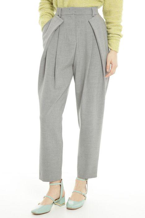 Pantaloni con contropieghe