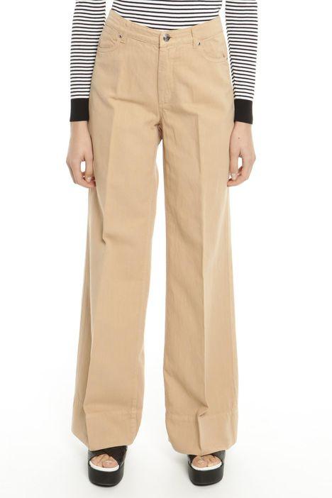 Pantalone in drill tinto capo
