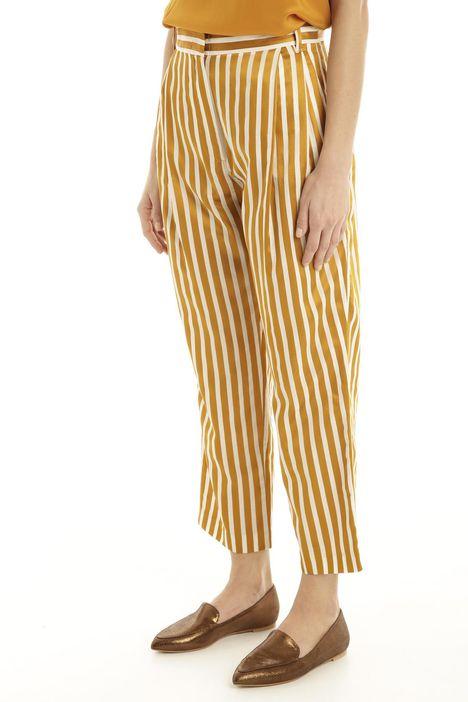 Pantalone in cotone e raso Diffusione Tessile