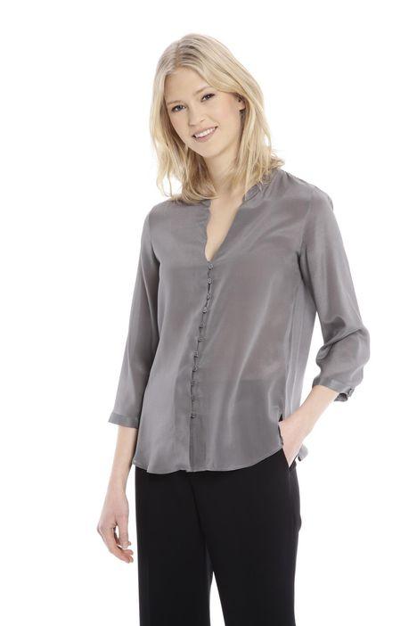 Camicia fluida in seta