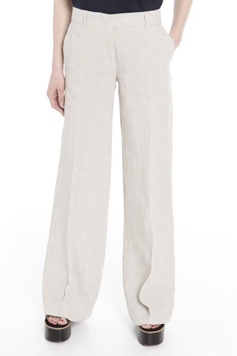 Pantaloni ampi in lino