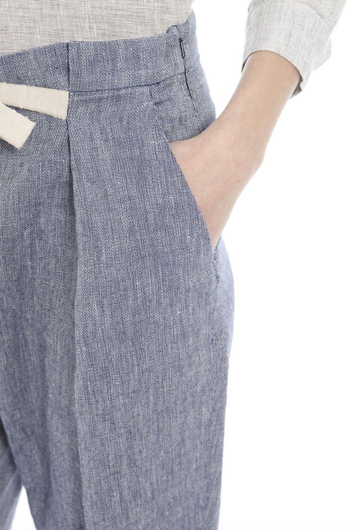 Pantalone in cotone misto lino Diffusione Tessile