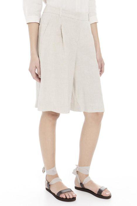 Pantaloni corti in lino