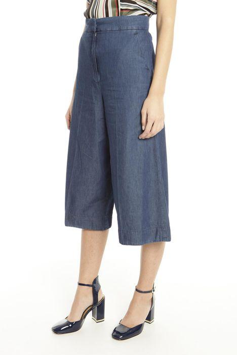 Pantaloni cropped in denim