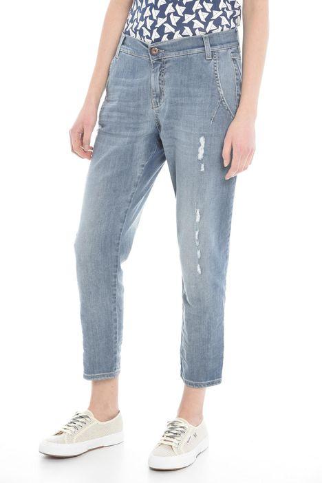 Jeans con tasche alla francese