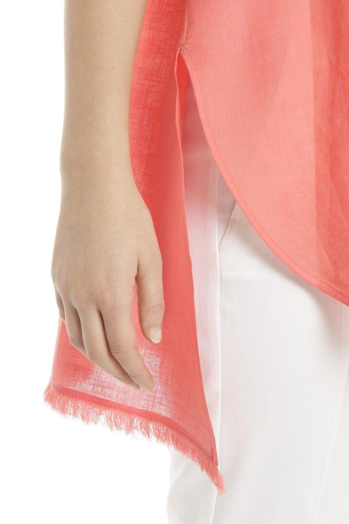 Camicia senza maniche in lino Diffusione Tessile
