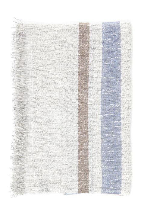 Sciarpa in cotone a righe