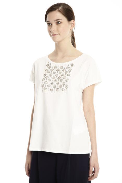 T-shirt ricamato a decoro Diffusione Tessile