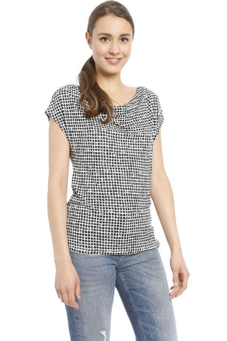 T-shirt con collo drappeggiato Diffusione Tessile