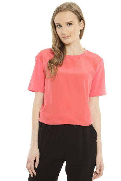 T-shirt con inserti in jersey Diffusione Tessile