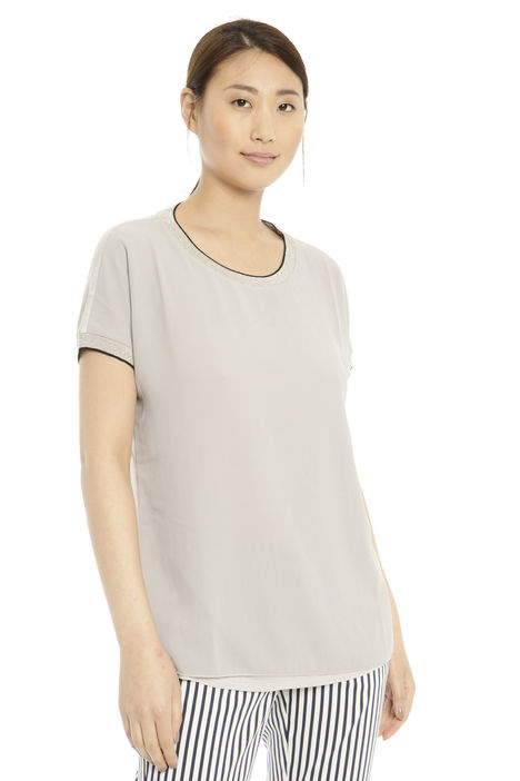T-shirt in jersey e voile Diffusione Tessile