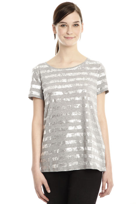 T-shirt in cotone laminato Diffusione Tessile