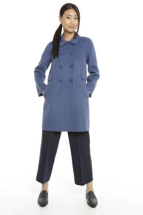 Cappotto doppiopetto in drap