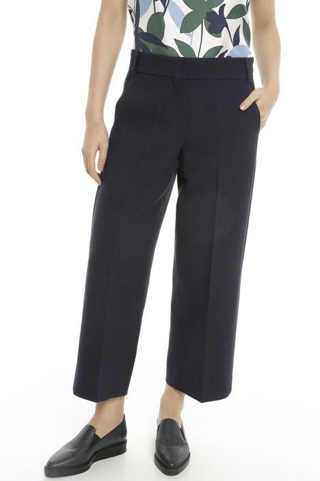 Pantaloni in lana e cotone
