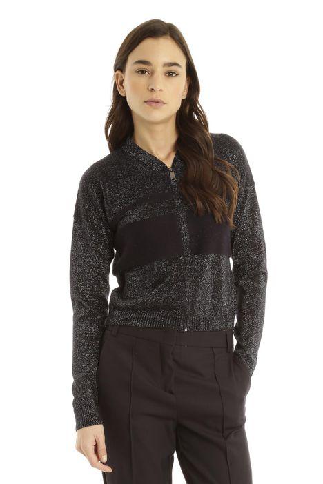 Cardigan in lana lurex