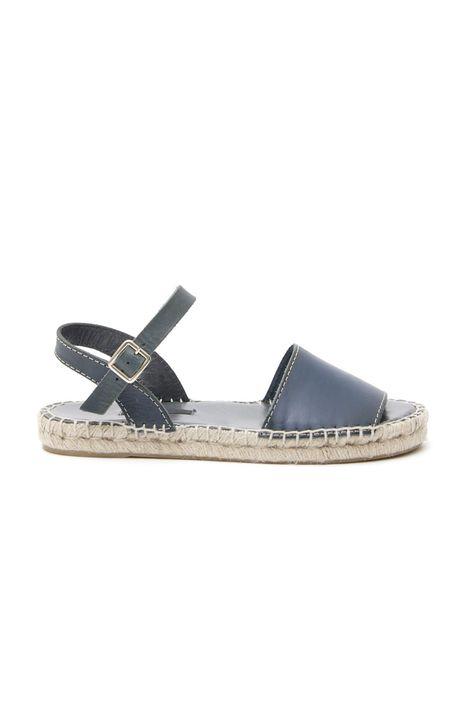 Sandalo espadrillas in pelle