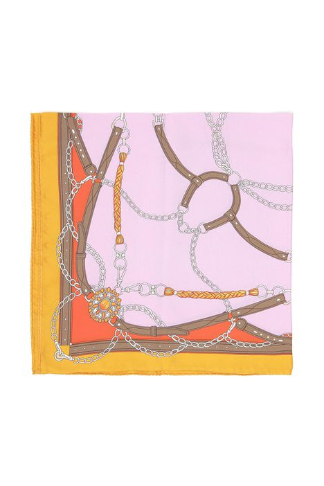 Foulard in seta stampata