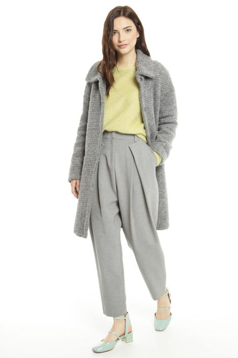 Cappotto in jersey di lana