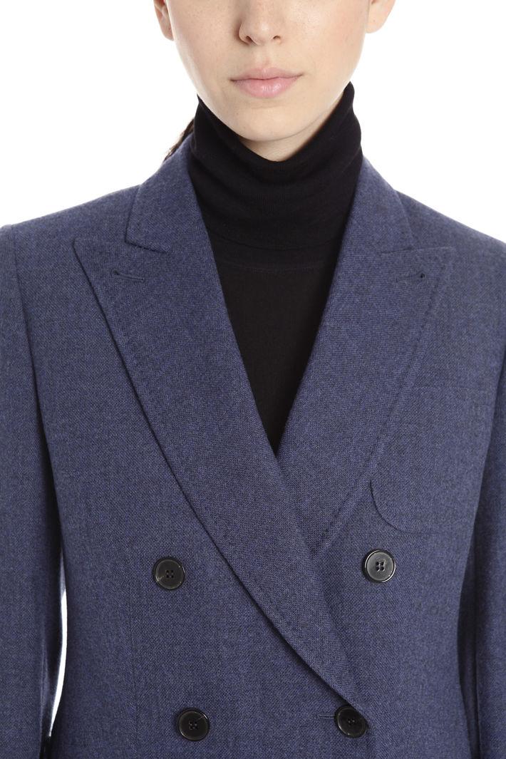 Giacca a doppiopetto in lana Diffusione Tessile