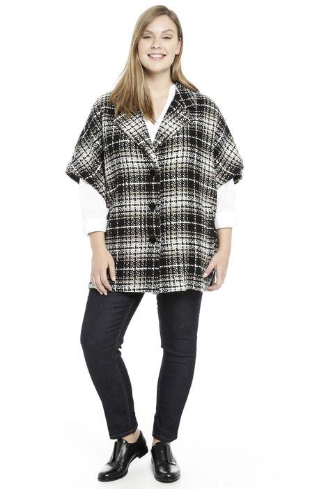Cappa in lana a motivo check Diffusione Tessile