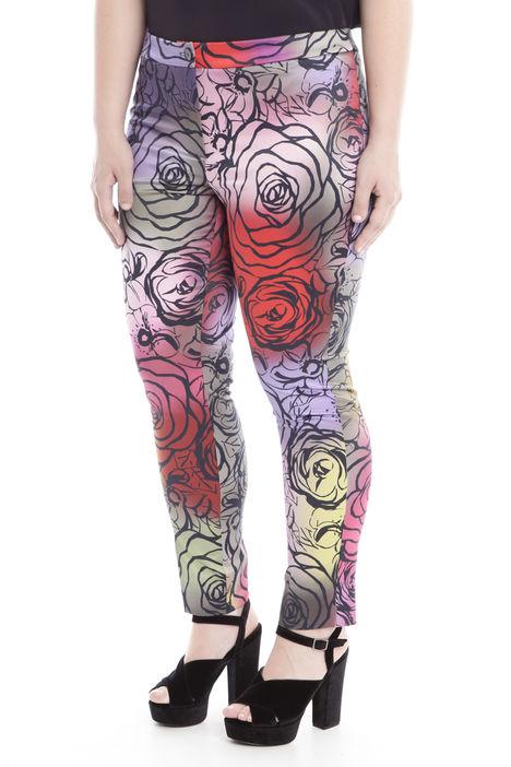 Pantalone in raso stampato Diffusione Tessile