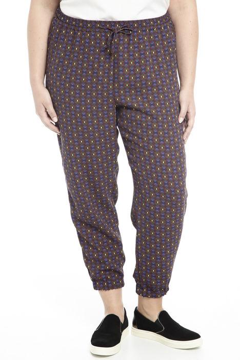 Pantalone in cady stampato Diffusione Tessile